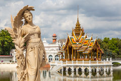 Bang Pa-in Palace, Thailand. The very beautiful tourist attractions in Thailand Royalty Free Stock Photo