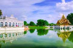 The Bang Pa-In Royal Palace. Thailand. The palace is used occasionally by Their Majesties King Bhumibol Adulyadej (Rama IX) and Queen Sirikit as a residence and Royalty Free Stock Image