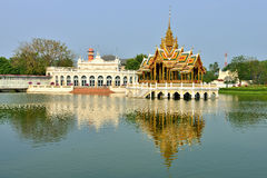 Bang Pa-In Royal Palace. Also known as the Summer Palace, is a palace complex formerly used by the Thai kings. The palace is located on the Chao Phraya River Royalty Free Stock Photos