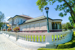 Bang Pa-In Royal Palace, also known as the Summer Palace, is a palacecomplex formerly used by the Thai kings.  Phra Thinang Uthay. An Phumisathian Royalty Free Stock Photo
