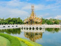 Bang Pa-In Royal Palace is landmark in Thailand. Royalty Free Stock Photography