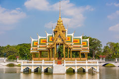Bang Pa-In Royal Palace Temple - thailand. Bang Pa-In Royal Palace  also known as the Summer Palace, is a palace complex formerly used by the Thai kings Royalty Free Stock Images