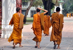 Bang Pa-In, Thailand: Novice Monks Royalty Free Stock Photos