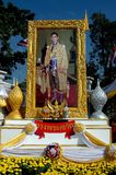 Bang Pa-In, Thailand: Photo Portrait of the King Royalty Free Stock Image