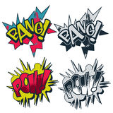 Bang and pow comic book style  graphic Stock Images