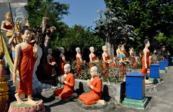 Bang Saen,Thailand: Figures in Wat Saen Suk Gardens Stock Photos