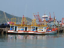 Bang Saray boats near Pattaya Thailand Stock Photos