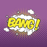 BANG! Wording Sound Effect. For comic speech bubble Royalty Free Stock Images