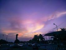 Bangalore Airport& x27; s avond Stock Foto's