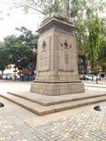 Bangalore british inscription. Mg road metro Royalty Free Stock Photography