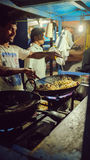 Bangalore city street, cooking rice Stock Photos