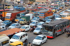 Bangalore city traffic Stock Photos