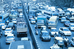 Bangalore city traffic in India Stock Photography