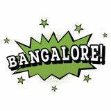 bangalore Grappige Tekst in Pop Art Style Stock Foto