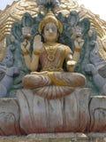 Bangalore, il Karnataka, India - 1° gennaio 2009 statua della dea Gaja Lakshmi Immagini Stock Libere da Diritti