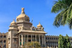 Bangalore India. Vidhana Soudha the state legislature building in Bangalore, India stock photography