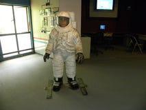 Bangalore, Karnataka, India - September 8, 2009 Life size model of an astronaut in white space suit. Life size model of an astronaut in white space suit at Stock Photo