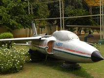 Bangalore Karnataka, Indien - Januari 1, 2009 Ajeet E-1083 flygplan på HAL Aerospace Museum royaltyfri bild
