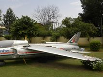 Bangalore Karnataka, Indien - Januari 1, 2009 Ajeet flygplan på HAL Aerospace Museum royaltyfria bilder