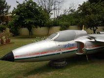 Bangalore Karnataka, Indien - Januari 1, 2009 Ajeet lättvikts- flygplan på HAL Aerospace Museum arkivfoto