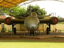 Bangalore Karnataka, Indien - Januari 1, 2009 Canberra flygplan på HAL Aerospace Museum Arkivbilder