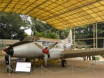 Bangalore Karnataka, Indien - Januari 1, 2009 Devon flygplan på HAL Aerospace Museum royaltyfri fotografi