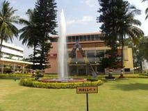 Bangalore Karnataka, Indien - Januari 1, 2009 HAL Heritage Center Aerospace Museum arkivbild