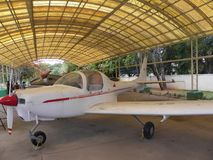 Bangalore Karnataka, Indien - Januari 1, 2009 Hansa ljust flygplan på HAL Aerospace Museum royaltyfri bild