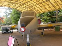 Bangalore Karnataka, Indien - Januari 1, 2009 Kiran flygplan på HAL Aerospace Museum arkivfoton