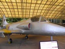 Bangalore Karnataka, Indien - Januari 1, 2009 Kiran MK1 flygplan på HAL Aerospace Museum royaltyfri bild