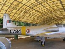 Bangalore Karnataka, Indien - Januari 1, 2009 Kiran MK1 flygplan på HAL Aerospace Museum royaltyfria bilder
