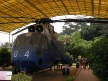 Bangalore Karnataka, Indien - Januari 1, 2009 Sea King MK 42 helikopter på HAL Aerospace Museum royaltyfria bilder