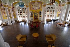 Bangalore Palace, India. Durbar Hall of Bangalore Palace, India royalty free stock photo