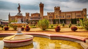 Bangalore Palace at noon. HDR image of Bangalore Palace in Bengaluru, India, on a March noon royalty free stock images