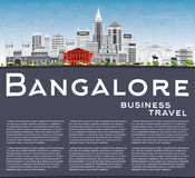 Bangalore Skyline with Gray Buildings, Blue Sky and Copy Space. Stock Photo