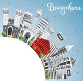 Bangalore Skyline with Gray Buildings, Blue Sky and Copy Space. Royalty Free Stock Images