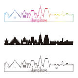 Bangalore skyline linear style with rainbow Stock Photos