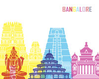 Bangalore skyline pop Royalty Free Stock Photography
