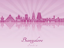 Bangalore skyline in purple radiant orchid Stock Images