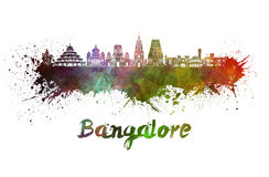 Bangalore skyline in watercolor Royalty Free Stock Image