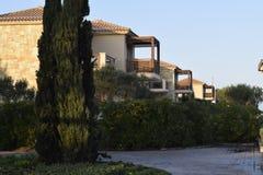 Bangalows in paraliakaterinis Hotelstijl Royalty-vrije Stock Fotografie