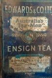 Old rusty tea tin box royalty free stock image