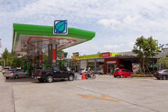 Bangchak Petroleum Public Company Limited. Bangkok, Thailand - July 26, 2015: Bangchak Petroleum Public Company Limited, Oil Gas Station in Thailand Royalty Free Stock Image