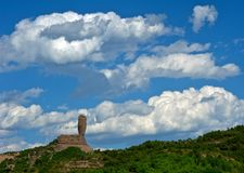 Bangchui hill, (chengde, china). Bangchui hill (chengde,hebei,china) under blue sky with white clouds Stock Photos