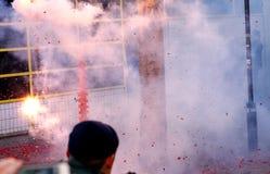 Banger и дым стоковая фотография