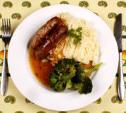 Bangers and mash Royalty Free Stock Photo