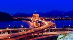 Banghwa bridge. At night,Korea Stock Image