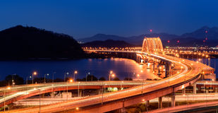 Banghwa bridge. At night,Korea Stock Images