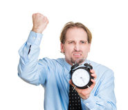 Banging the alarm clock Royalty Free Stock Photos