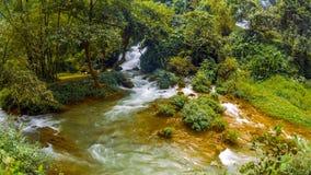 Bangioc瀑布在Caobang,越南 免版税库存照片